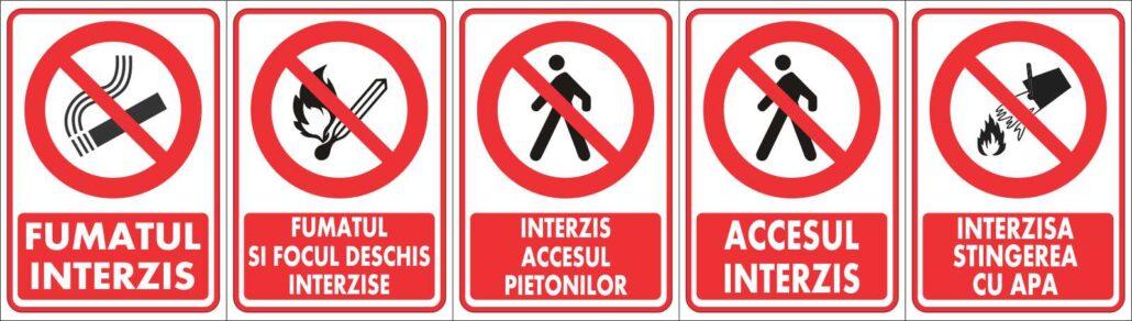semne de avertizare interdictie