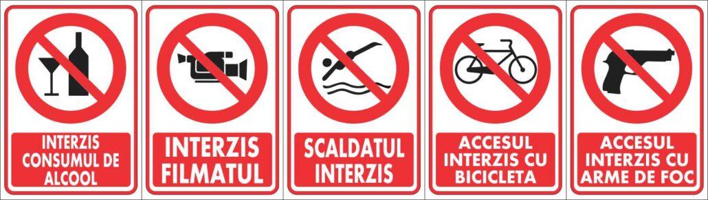 Semne interdictie